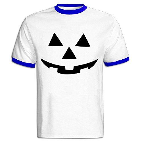 CHALZ Men's Pumpkins Halloween Logo Cotton Tshirts S RoyalBlue]()