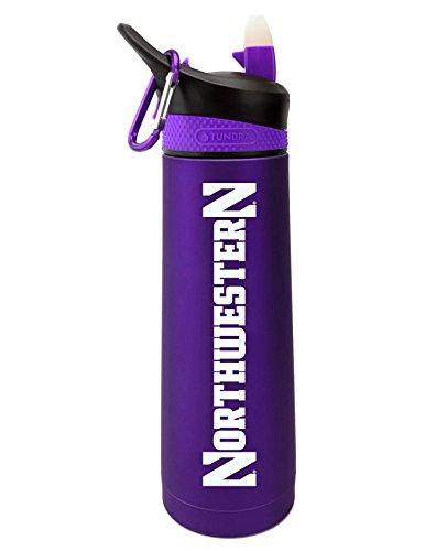 (The Fanatic Group Northwestern University Dual Walled Stainless Steel Sports Bottle, Design 1 - Purple)