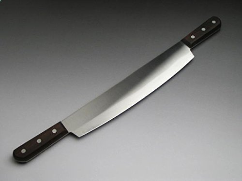 Double Handled ''Reito Bocho (Frozen-food Kitchen Knife)'' for Business Use 300mm (abt 11.8'') with Leather Sheath by HONMAMON