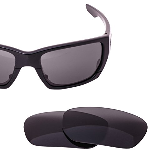 LenzFlip Replacement Lenses for Oakley Style Switch - Gray Black Polarized - Oakley Polarized Lenses Scratched