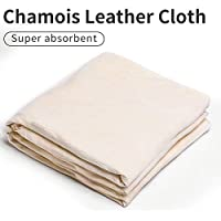 Trainshow Car Drying Natural Chamois Cleaning Cloth Premium Genuine Deerskin Leather Towel for Auto Car Washing and for Precision Instrument (32 * 50.8 CM(2 pack))
