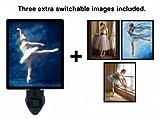 Night Light w/ Switchable Inserts - Dance - Ballet - LED NIGHT LIGHT