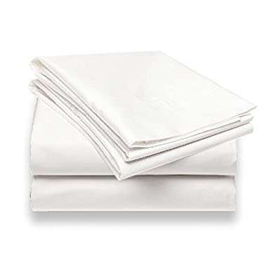 Bamboo Luxury Bed Sheets Set, Top Quality, Super Silky, Ultra Soft Hypoallergenic, Anti-Bacterial Quality Bedding Fabric - 100% Money Back Guarantee! Wrinkle & Fade Resistant (Queen Sized,White)