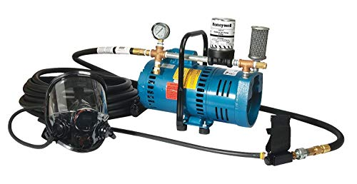 (North Supplied Air Pump Package, 3/4 HP, People Served: 1, Headgear Included: Full Face Respirator - APPA)
