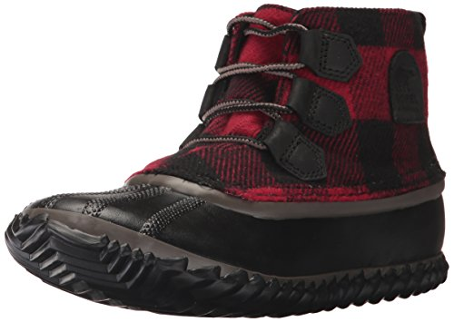(Sorel Women's Out N About Leather Rain Snow Boot, Black, Mud, 9 M US)