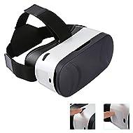 Buykuk 3d VR Lunettes 3d VR Headset réalité virtuelle objectif réglable et sangle pour iPhone ou smartphone