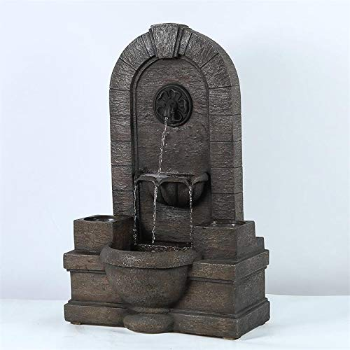 (Winsome House Garden Polyresin Fountain Oasis with Planters)