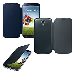GEARONIC ? Black Blue Samsung Galaxy S4 SIV i9500 PU Faux Leather Slim Flip Case Folio Replacement Back Cover