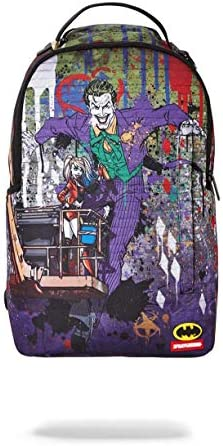 SPRAYGROUND BACKPACK JOKER MURAL BY HARLEY QUINN / SPRAYGROUND BACKPACK JOKER MURAL BY HARLEY QUINN