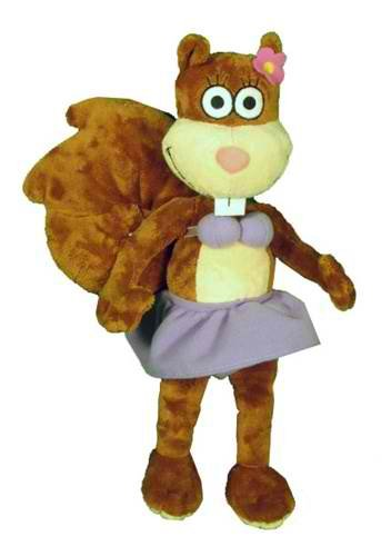 Spongebob Squarepants Perky Sandy Cheeks Plush 12