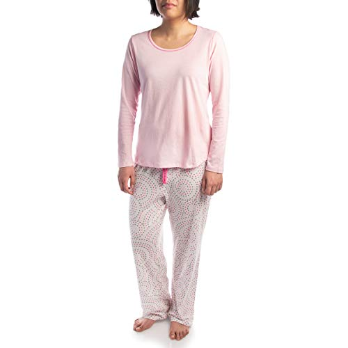 (Jockey (2 Piece Soft Pajama Set for Women Cotton Long Sleeve Shirt Pants Ladies PJs for Teen Girls)