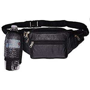 AG Wallets Netted Water Bottle Fanny Pack Waist Bag Pouch