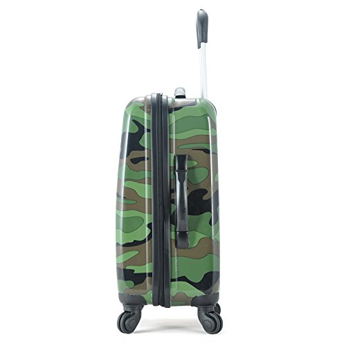 "Rockland 20"" Polycarbonate Carry On, Camo"
