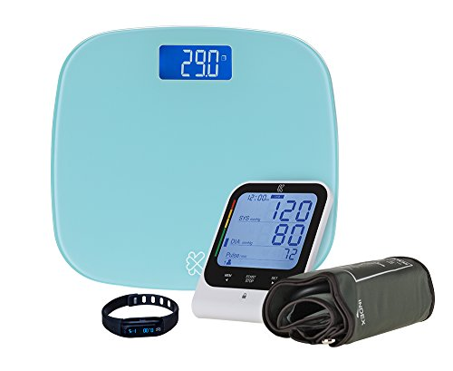 Kinetik Health Sense Kit, Understand, Manage and Track Your Vital Health Signs Simply and Store Easily on the Kinetik Health App. Bluetooth Digital Scales, Blood Pressure Monitor, and Activity Tracker