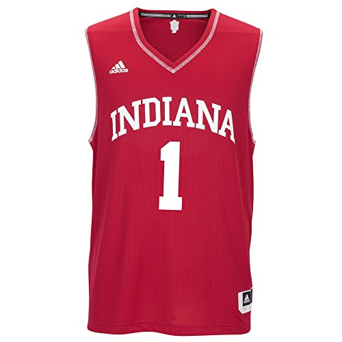 (NCAA Indiana Hoosiers Men's Basketball Replica Jersey, XX-Large, Red)