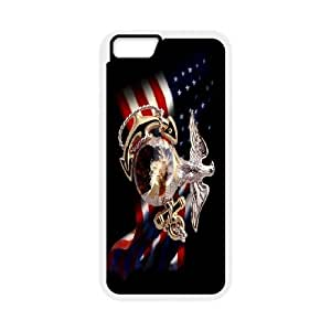 Hot United States Marine Corps flag Protect Custom Cover Case for iPhone 6 4.7 Inch MZR-38366