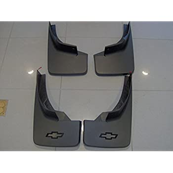 2014 /& UP CHEVROLET IMPALA LTZ GM OEM BLACK MOLDED SPLASH GUARDS FRT /& RR