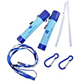 """Jenny & Co - Water Filter Straw Personal Reusable 2 Pack """"Eco Friendly"""" Carbon Activator, Filters 99.9999%"""