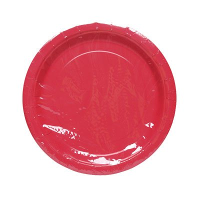 RED SOLID 9'' PLATE 8CT #34621, CASE OF 144 by DollarItemDirect
