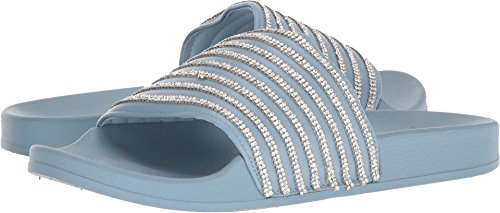 Kenneth Cole REACTION Women's Pool Game Sporty Slide Sandal with Thin Stripes, Storm, 9 M US