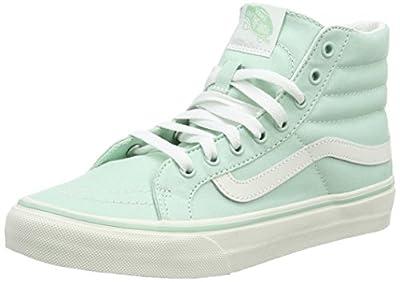 Vans SK8-HI Slim Mens Skateboarding-Shoes VN-018IIMA_4.5 - Gossamer Green/Blanc de Blanc