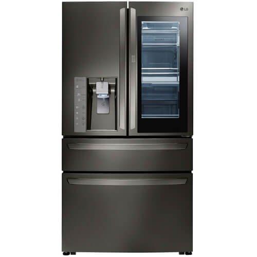 LG LMXC23796D 23 cu. ft. Black Stainless InstaView 4-Door French Door Counter Depth Refrigerator ()