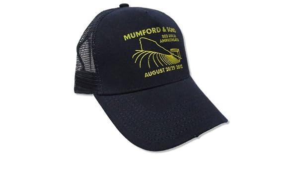 847ec538fb7d0 Amazon.com  Bravado Adult Mumford   Sons Red Rocks 2012 Navy Blue Trucker Cap  Hat  Clothing
