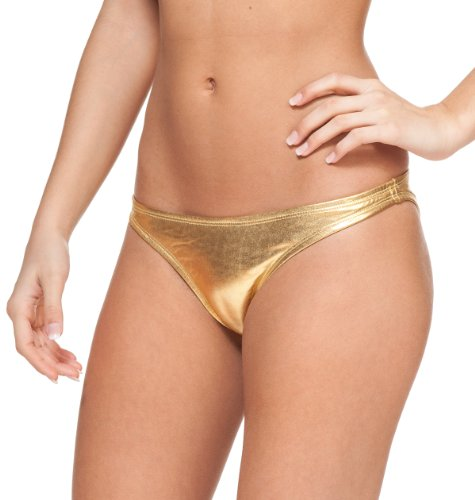 Gold Metallic Bikini Set in Australia - 4