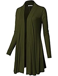 Womens Open Front Draped Basic Designed Cardigan With Various Styles