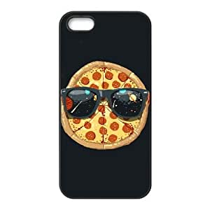 iPhone 5,5S Phone Case Black Cool Pizza ZIC458799