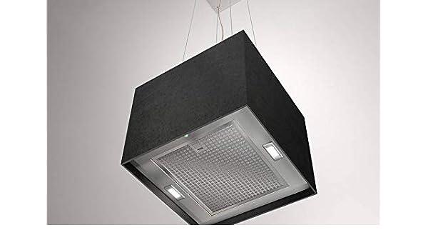 Airforce Concrete - Campana de cocina con sistema Integra (40 cm), color negro y verde lima: Amazon.es: Grandes electrodomésticos