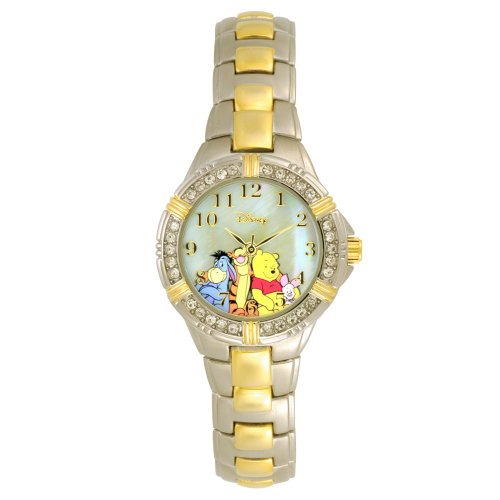 Disney Winnie the Pooh and Friends Two-Tone Bracelet Watch with Crystal Accents WTP063 (Eeyore Crystal)