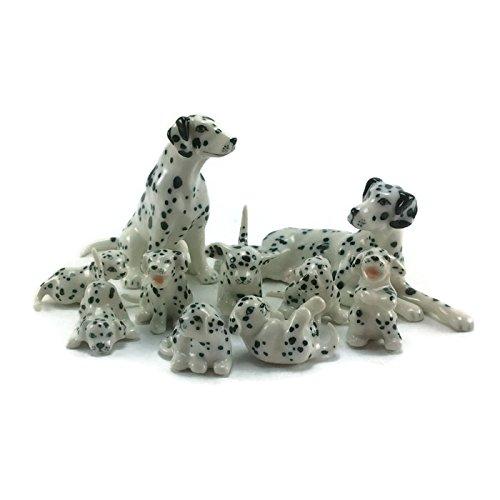 O2N Shop Thai Ceramic Dalmatian Dog (Bulldog Post Earrings)