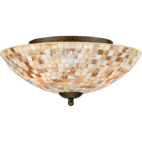 Quoizel MY1613ML 3-Light Monterey Mosaic Flush Mount in Malaga from Quoizel