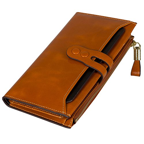Noedy Womens Checkbook Leather Removable