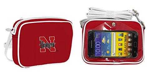 NCAA Nebraska Cornhuskers Fashion Style Crossbody Purse- Embroidered Logo