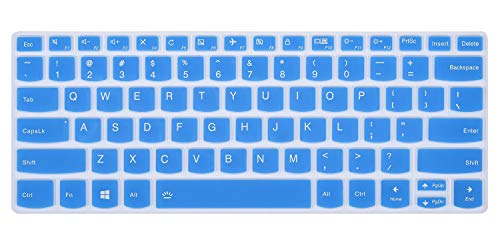 Keyboard Cover Compatible Lenovo Yoga 720/730 13.3 inch, Yoga 720 12.5 inch, Yoga 920 C930 13.9 inch Soft Silicone Protective Skin, Blue