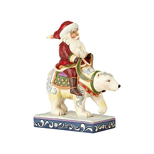 Enesco Jim Shore Heartwood Creek Santa Riding Polar