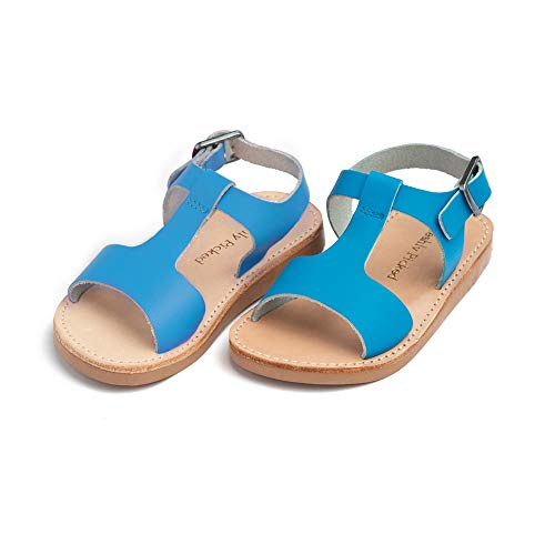 Freshly Picked - Malibu Toddler Boy Girl Leather Sandals - Size 5 Cobalt -