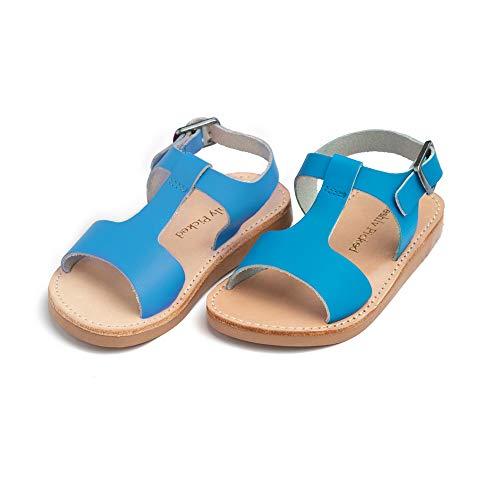Freshly Picked - Malibu Toddler Boy Girl Leather Sandals - Size 5 Cobalt Blue