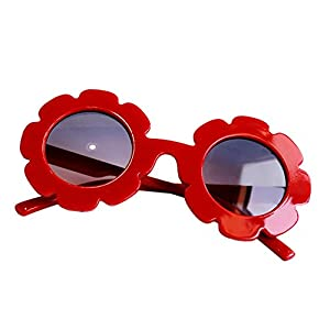 Tracfy Stylish Round Flower Sunglasses Anti-UV Party Photography Outdoor Beach Colorful Eyewear for Unisex Baby Kids Children