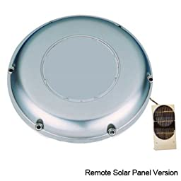 Solatron Stainless Steel Solar Vent/Fan with Rechargeable Battery and Remote Solar Panel for Boat RV and More