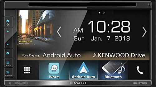 Kenwood DDX6705S 2 DIN DVD CD Player 6.8 LCD Android iPhone HD Radio Bluetooth