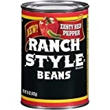 Ranch Style Beans, Zesty Pepper, 15oz Can (Pack of 6)
