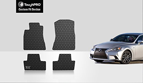 (ToughPRO Floor Mats - Compatible with Lexus IS250 - All Weather - Heavy Duty - Black Rubber - 2014-2019 (4WD/AWD))