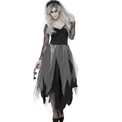 [Imixcity Women Zombie Corpse Bride Costume Halloween Costume Fancy Party Dress Adult Vampire] (Chinese Vampire Costume)