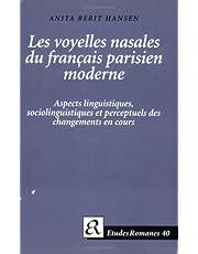 Les Voyelles Nasales Du Francais Parisien Moderne