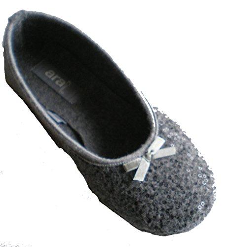 Ara 15-29953 Cosy Damen Hausschuhe Grau