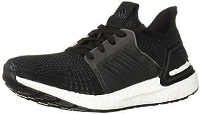 adidas Women's Ultraboost 19 Running Shoe, Black/Grey/Solar Orange, 5 M US