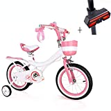 Huoduoduo Bike, Children's Bicycle, 14-Inch High Carbon Steel, Paint Safe Mild Non-Irritating, Non-Slip Tires, Gift Bicycle Turn Signal